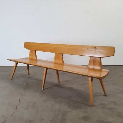 Pine wood bench by J. Kielland-Brandt for Christiansen, Denmark 1960s