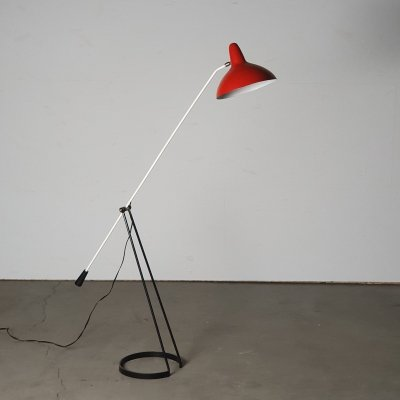 Sculptural 'Tivoli' floor lamp by F.H. Fiedeldij for Artimeta, 1958