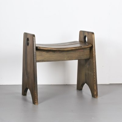 Large stool by Gilbert Marklund for Furusnickarn AB, Sweden c1960s