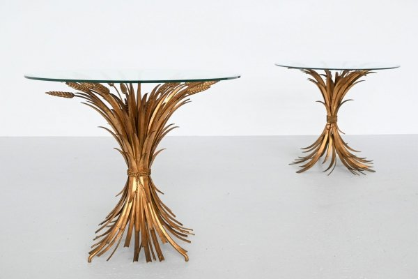 Coco Chanel style Sheaf of Wheat side tables, France 1960