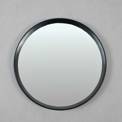 Italian 60's black lacquered mirror
