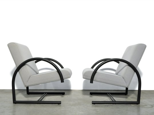 Pair of arm chairs by Pierre Mazairac & Karel Boonzaaijer for Hennie de Jong International Collections, 1980s