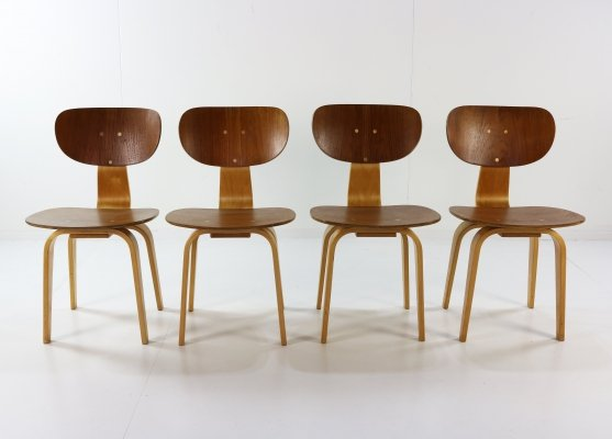 Set of 4 SB02 dining chairs by Cees Braakman for Pastoe, 1960s