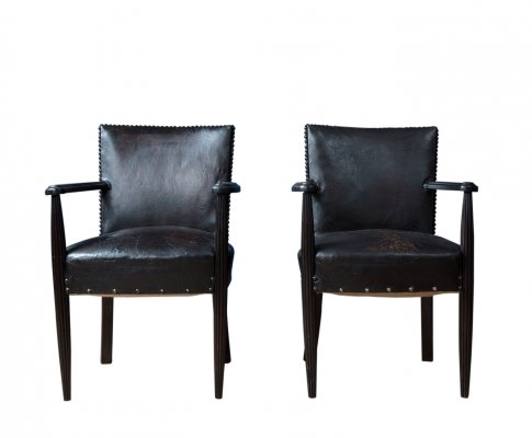 Pair of Louis XIV Library Chairs