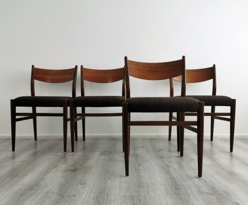 Set of 4 Mid-Century Modern Teak Dining Chairs