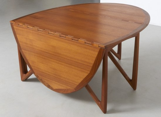 Oval Gate-leg Dining Table by Kurt Østervig for Jason Møbler, Denmark 1950's