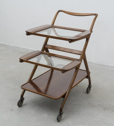 Early Mod. 65 serving cart by Ico & Luisa Parisi for De Baggis, 1952