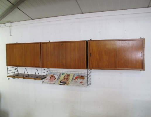 Vintage wall unit by Nisse Strinning for String Design AB, 1960s