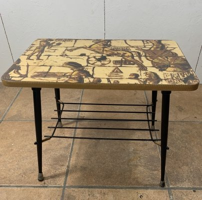 Side table in Formica & Metal, 1950s