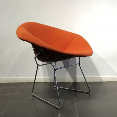 Red 'Diamond Chair' by Harry Bertoia for Knoll, 1980s