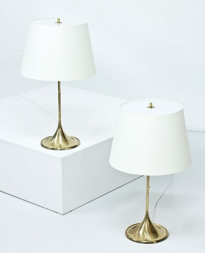 Pair of Swedish table lamps by Alf Svensson & Yngvar Sandström for Bergboms