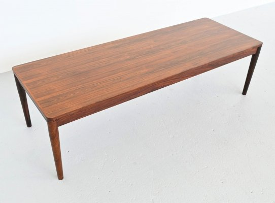 Scandinavian modern rosewood coffee table, Denmark 1960