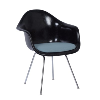 Black DAX Armchair by Charles & Ray Eames for Herman Miller / Fehlbaum, 1970s
