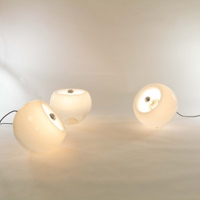 Set of 3 hand-blown Vacuna lamps by Eleonore Peduzzi-Riva for Artemide