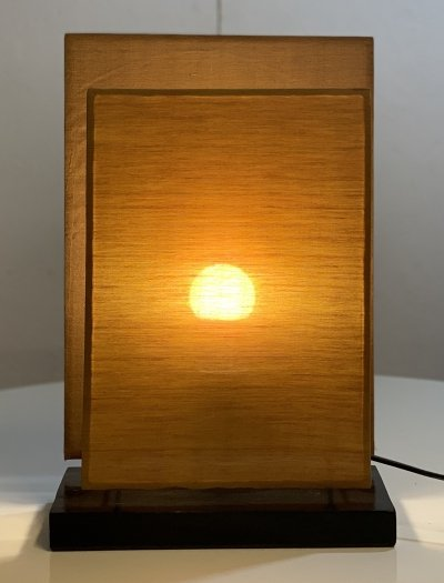 'Sunset Lamp' between rectangular panels, 1970s