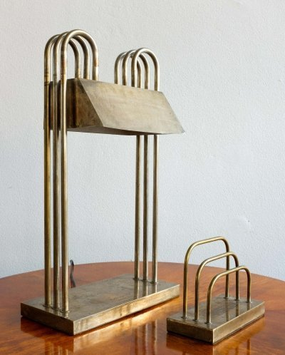 Table Lamp & Letter Holder by Marcel Breuer for Exhibition in Paris 1926