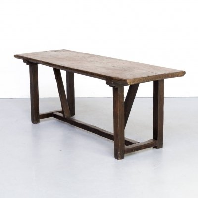 Rustic oak dining / side table, 1920s