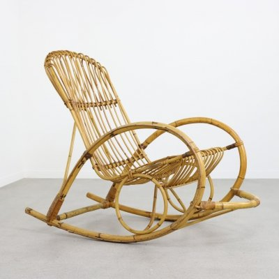 Rohé Noordwolde rocking chair, 1960s