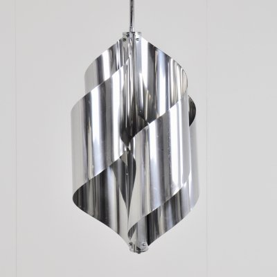 Brushed steel Hanging Lamp, 1970s