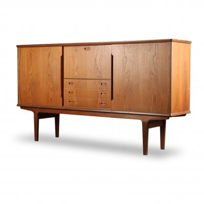 Vintage Danish design teak highboard, 1960s