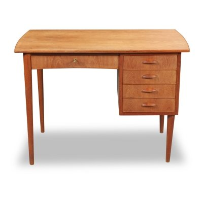 Vintage Danish design teak desk, 1960s