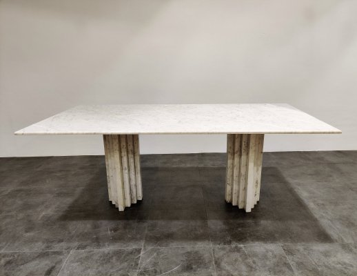 White marble dining table, 1970s