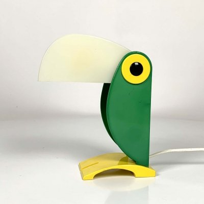 Green Toucan Table Lamp by Old Timer Ferrari, 1960s