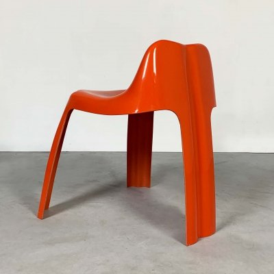 Orange Ginger Chair by Patrick Gingembre for Paulus, 1970s