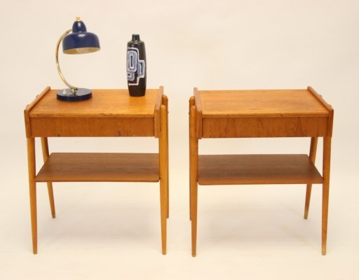 Pair of 1960s Scandinavian Teak Bedside Tables