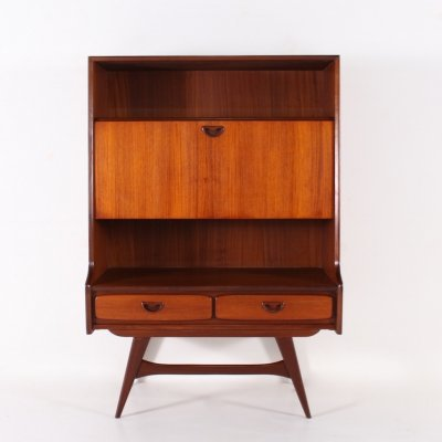Teak cabinet with two drawers by Louis van Teeffelen for Wébé, 1963