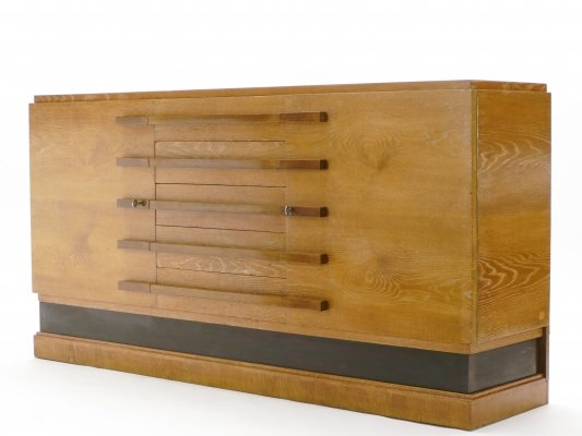 Signed Louis Majorelle Art Deco cerused oak sideboard, 1920s