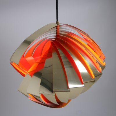 Danish Konkylie space age Pendant Lamp by Louis Weisdorf, 1962