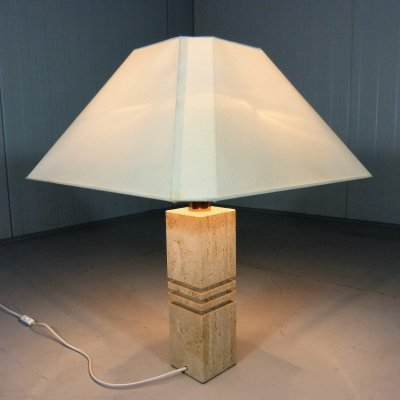 Travertine Table Lamp, 1970's