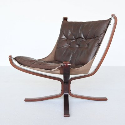 Sigurd Ressell Falcon lounge chair by Vatne Mobler, Norway 1970