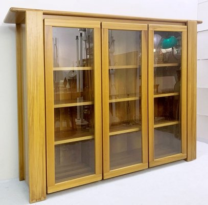 Mario Marenco Walnut Display Cabinet, Italy 1980