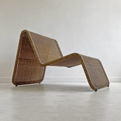 Vintage Rattan Easy Chair by IKEA, c.1960