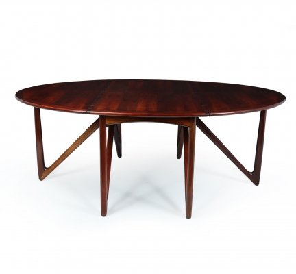 Mid Century Danish Dining Table by Kurt Ostervig, c1964