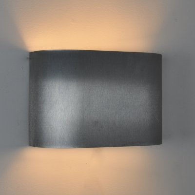 4 x French Brushed steel Wall Lamps, 1950s