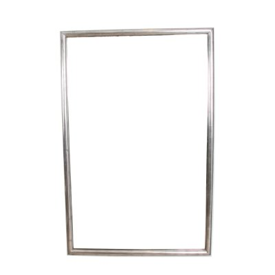 French 1920s Silver Leaf Bistro Mirror