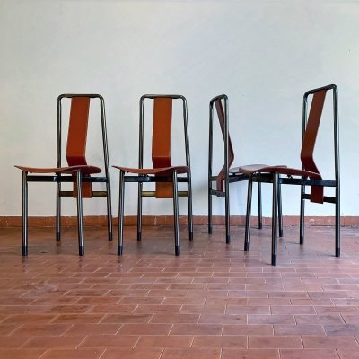 Set of 4 IRMA dining chairs by Vico Magistretti for Zanotta, 1970s