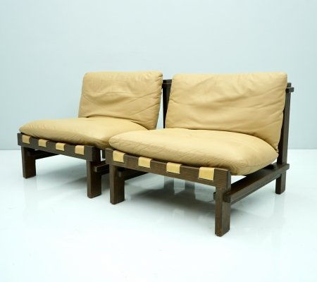 Pair of Slipper Lounge Chairs by Carl Straub, 1960s