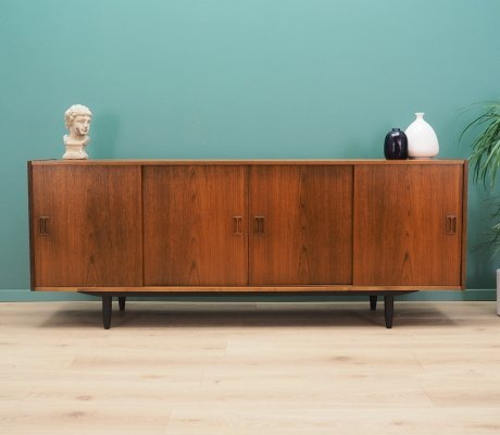 Danish design sideboard in teak by P. Westergaard Møbelfabrik, 1960s