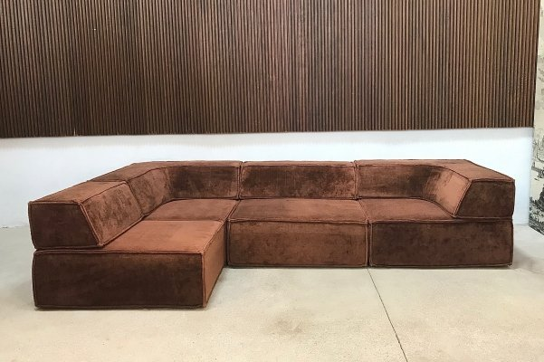 German Velour Modular TRIO Sofa by Team Form AG for COR, 1970s