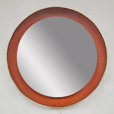 Vintage design illuminated mirror by Floris H. Fiedeldij for Artimeta