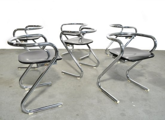Vintage dining chairs by Borge Lindau & Bo Lindekrantz for Lammhults, Sweden 1970s