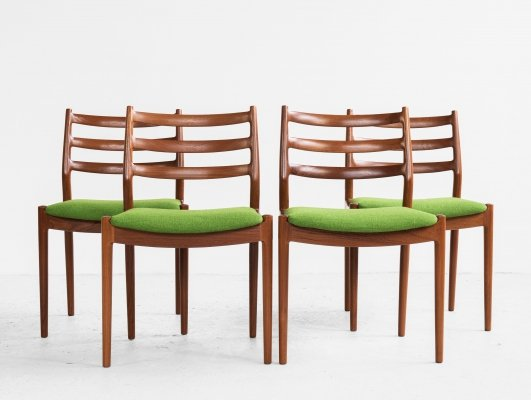 Midcentury set of 4 dining chairs in teak by Arne Vodder for France & Søn, 1960s