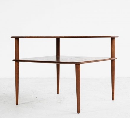 Midcentury Corner Table in Teak by Hvidt & Mølgaard for Cado, 1960s