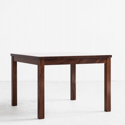 Midcentury Danish square side table in rosewood, 1960s