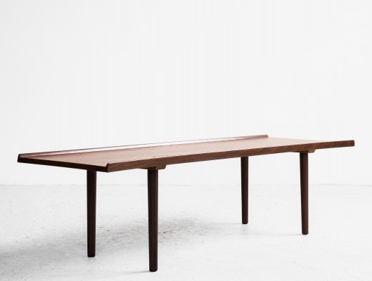 Midcentury long coffee table in teak by Ilse Möbel, 1960s