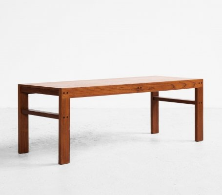 Midcentury Danish low coffee table in teak, 1960s